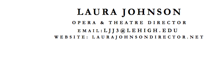 Laura Johnson resume header